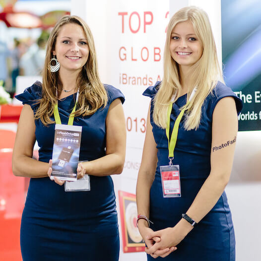 Exhibition hostesses
