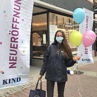 Promoterin bei Neüröffnung für KIND GmbH