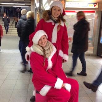 Promoterinnen an Weihnachten für Foodora