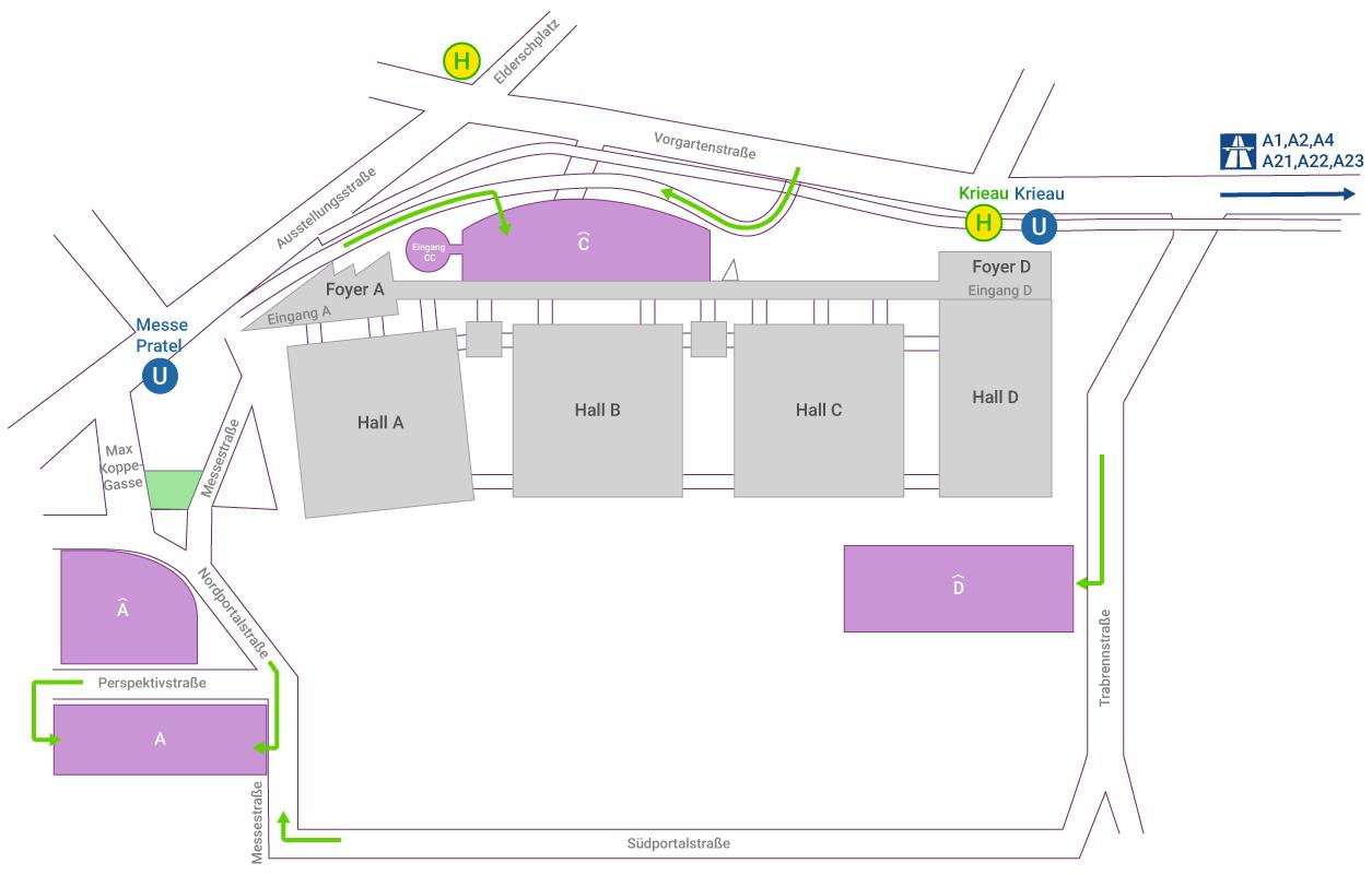 Messe Wien Infos Zu Anfahrt Parken Hotels Instaff